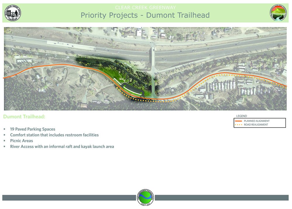 Conceptual graphic only; layout of parking structure and trail head may change.