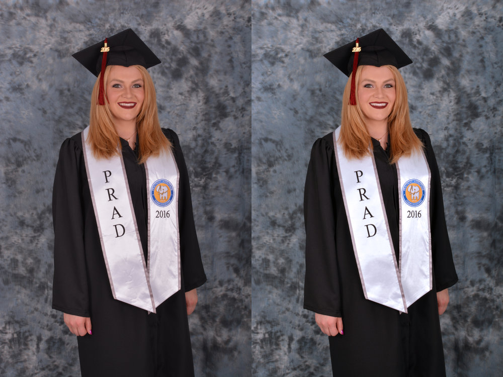 GRADUATION - BEFORE & AFTER