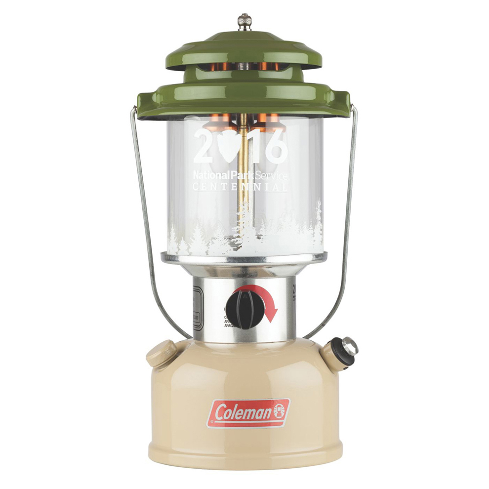 Nostalgia Lantern ($149.99) – Coleman's Nostalgia Lantern, designed specifically for the 2016 National Park Service Centennial commemorative line, harkens back to the good ol' days of camping with a heritage-inspired full metal body. This battery-powered 700-lumen lantern includes a Lithium-ion battery. When you aren't using the lantern, switch on Coleman's BatteryLock technology which disconnects the batteries from their contact point, keeping them from draining while not in use.