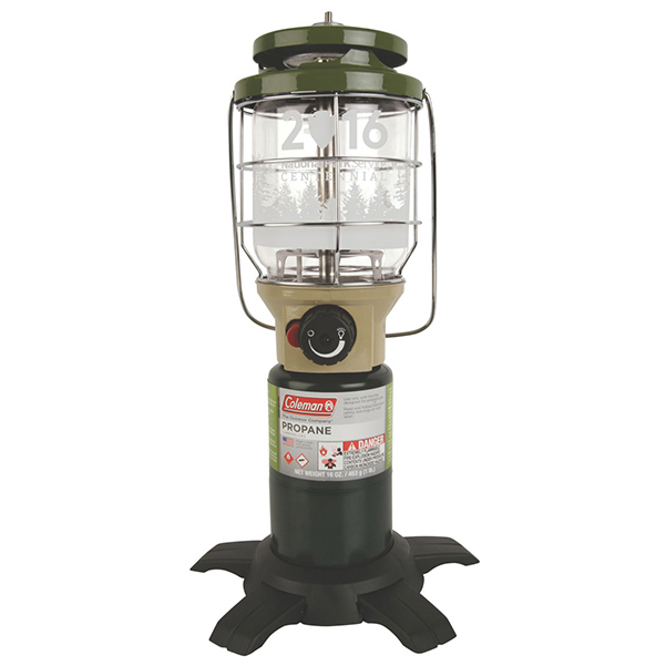 Northstar® Lantern ($64.99) – One of Coleman's most popular propane lanterns, the NorthStar, makes a guest appearance in Coleman's National Park Service Centennial collection in a limited color scheme. No matches; just push the InstaStart ignition. Turn it up to its highest—1540 lumens—or dim it as low as you need it to set the mood.
