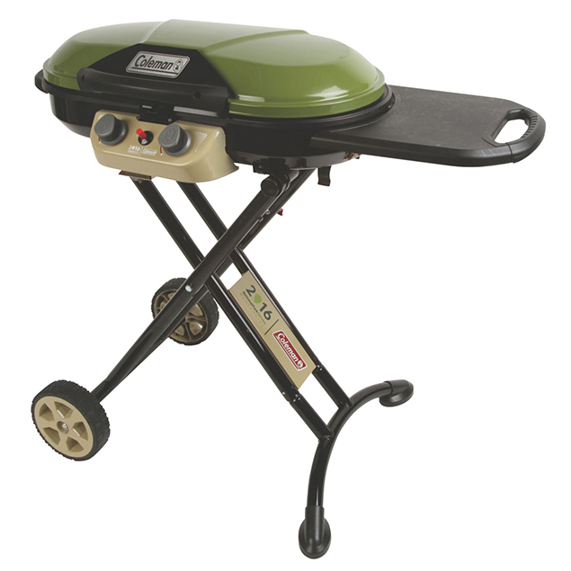 Roadtrip® X-Cursion™ Grill  ($229.99)  –  Similar to the NorthStar Lantern, the X-Cursion Grill is one of Coleman's top sellers. Welcome the National Parks Centennial version, in khakis and forest greens. Collapsible steel scissor legs and low-profile design make moving this grill as easy as flipping a burger, while the rugged, off-road wheels handle almost any terrain.