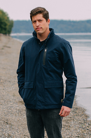 he 2-layer Rainer Rain Jacket ($180) features a Poly/Cotton blend shell with 2-layer 8K/5K waterproof/breathable construction, mesh lining and fully taped seams.