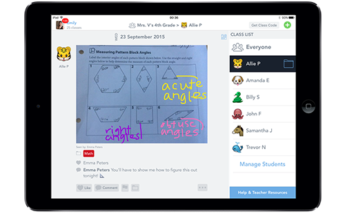 For Students Seesaw empowers students to independently document their learning, and provides an audience for their work—their peers, parents, or the world.