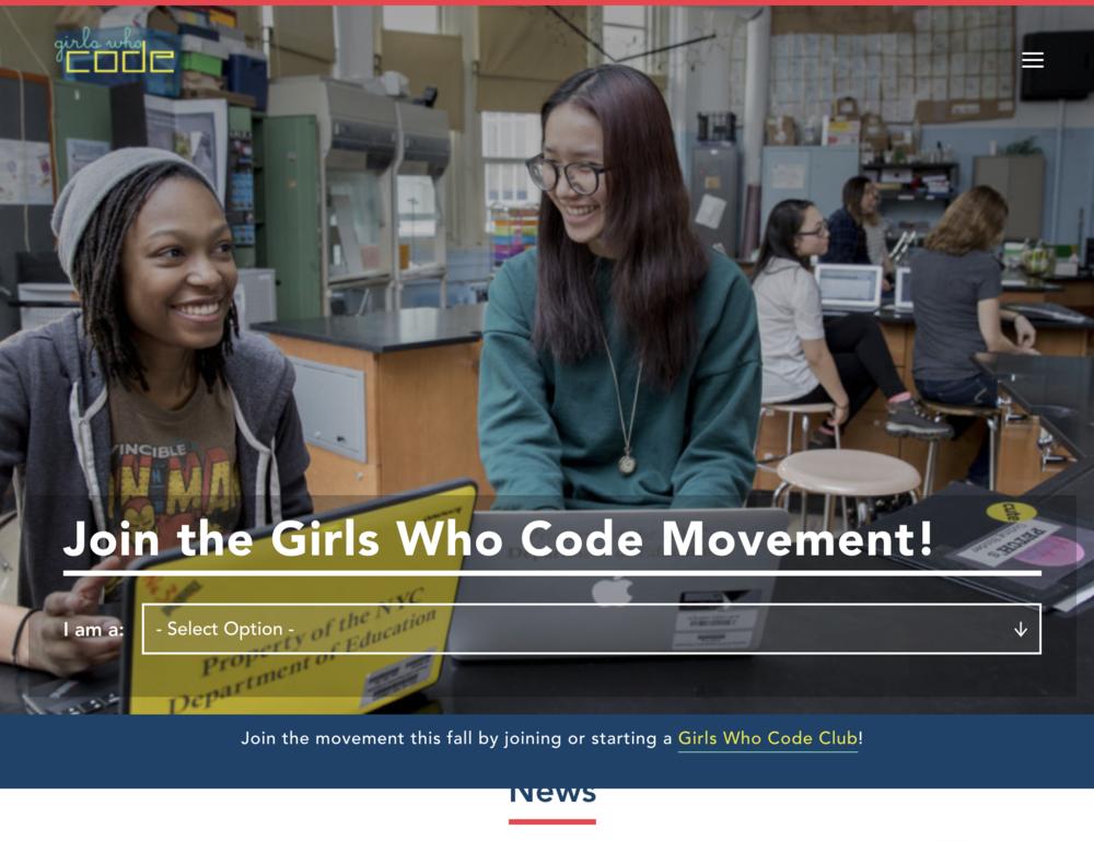 GirlsWhoCode.com  empowers girls in CS