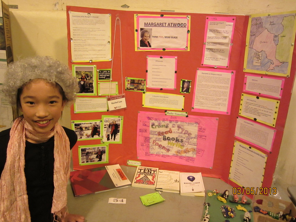 Rachel's Grade 5 class project based on Margaret Atwood's KDocs talk at KPU (2013)
