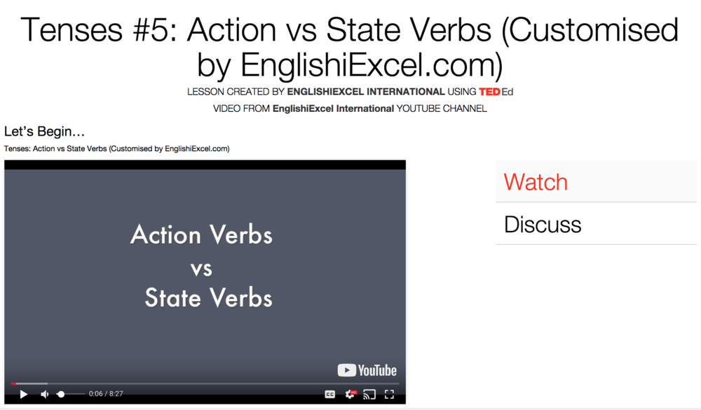 Unit 10: Tenses #5 - Action Verbs vs State Verbs