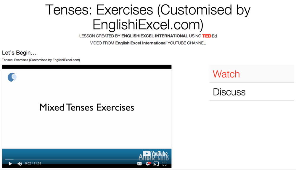 Unit 16:Tenses #11 Exercises -