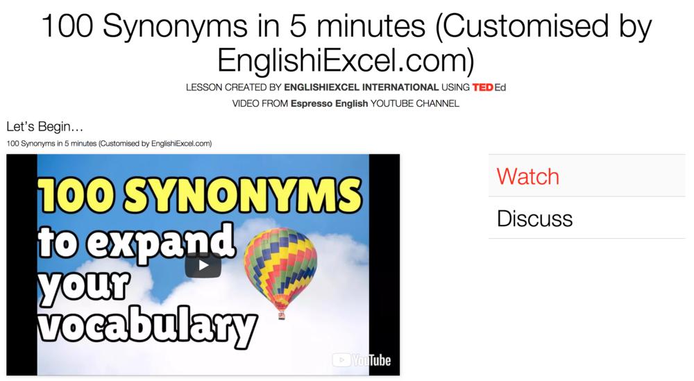 Unit 1: Synonyms #1 -