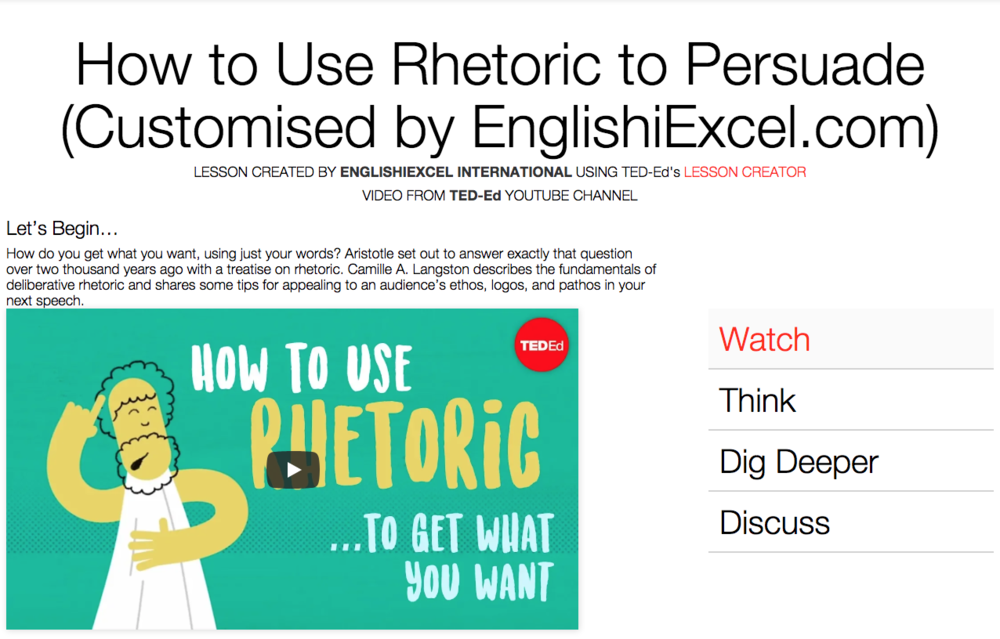 Unit 2: Using Rhetoric - https://ed.ted.com/on/wB5vaUcv