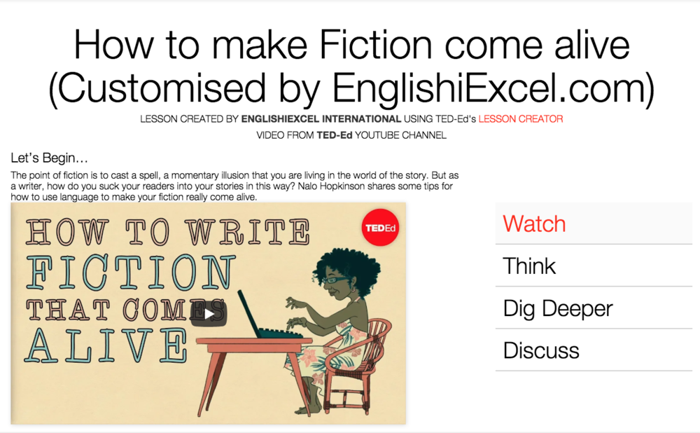 Unit 2: Make Fiction Come Alive - https://ed.ted.com/on/xX9OKRHF