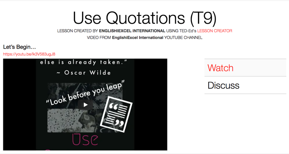 Unit 7: Use Quotations - https://ed.ted.com/on/YHiiFmDP