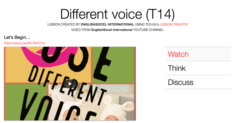 Unit 12: Different Voice - https://ed.ted.com/on/MpL53OTb