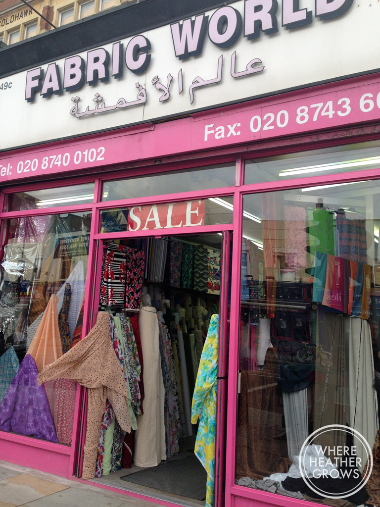 Fabric Shopping in London: Goldhawk Road — The Pug & Needle
