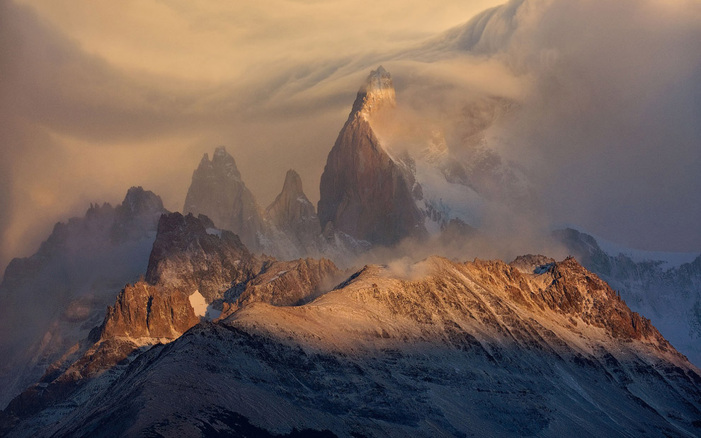 The Perfect Storm. Fitz Roy Massif, Patagonia, Argentina.