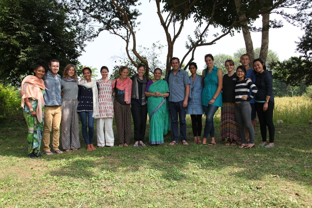 At Navdanya Farm with Dr. Vandana Shiva in Dehradun, India.