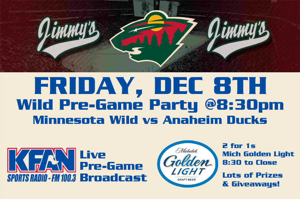 3b2b04b0198 KFAN/Mich Golden Light Wild Pre-Game Party — Jimmy's Food & Drink