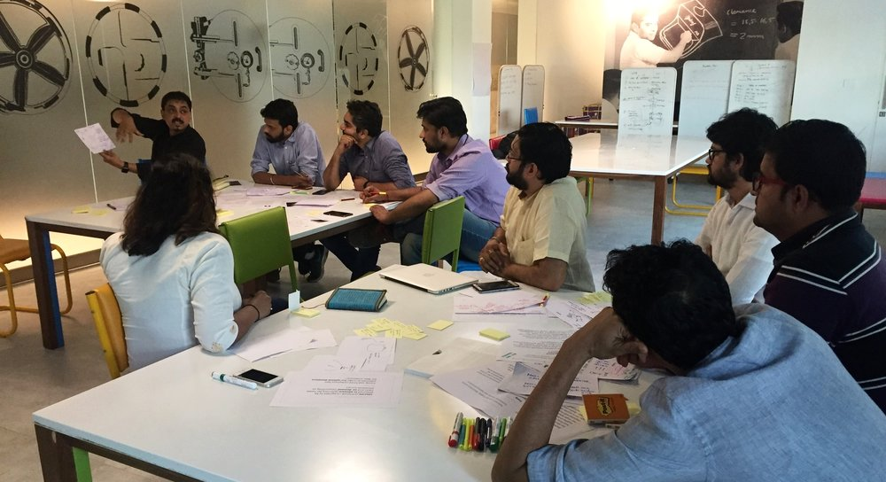 Ideation workshop by creating multidisiplinary teams from various Godrej business units.