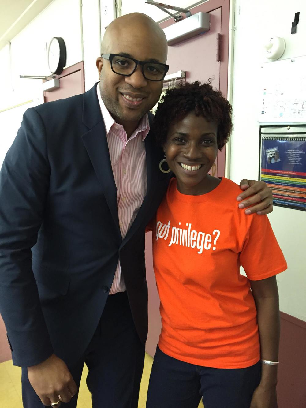 Celebrating a terrific Privilege Day with Orinthia Swindell, Director of Diversity at Brooklyn Friends School (NY)