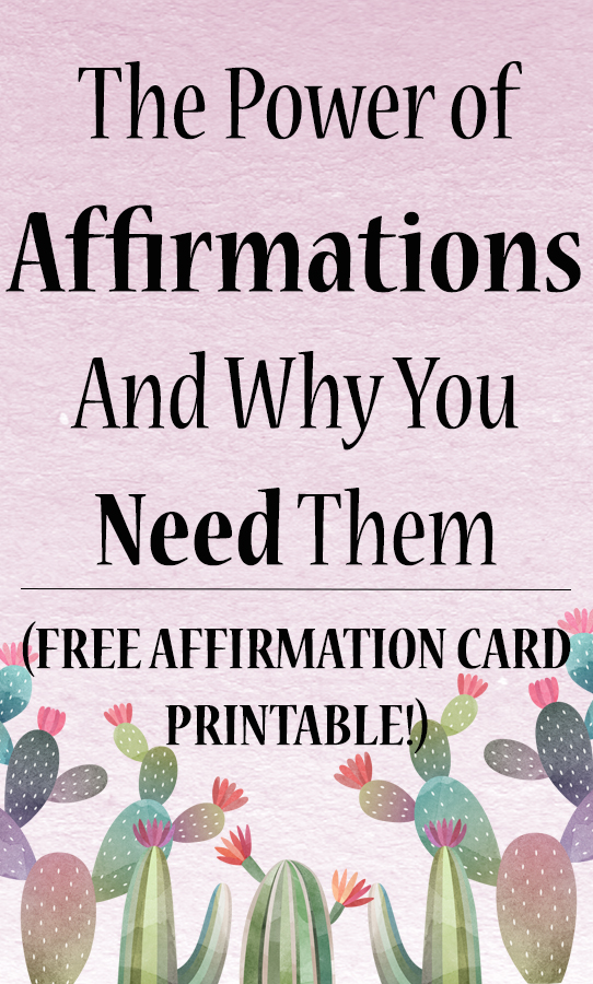 image regarding Free Printable Affirmation Cards identify The Energy of Affirmations and Why Oneself Want In the direction of Be Getting Them