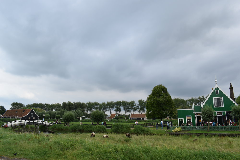 LIKE A FAIRY TALE. THE VILLAGE ADJACENT TO THE WINDMILLS WHERE PEOPLE STILL LIVE TODAY. ZAANSE SCHANS.