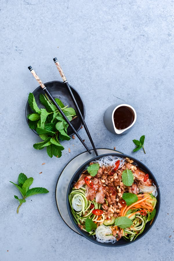 SWEET CHILLI CHICKEN VERMICELLI BOWLS