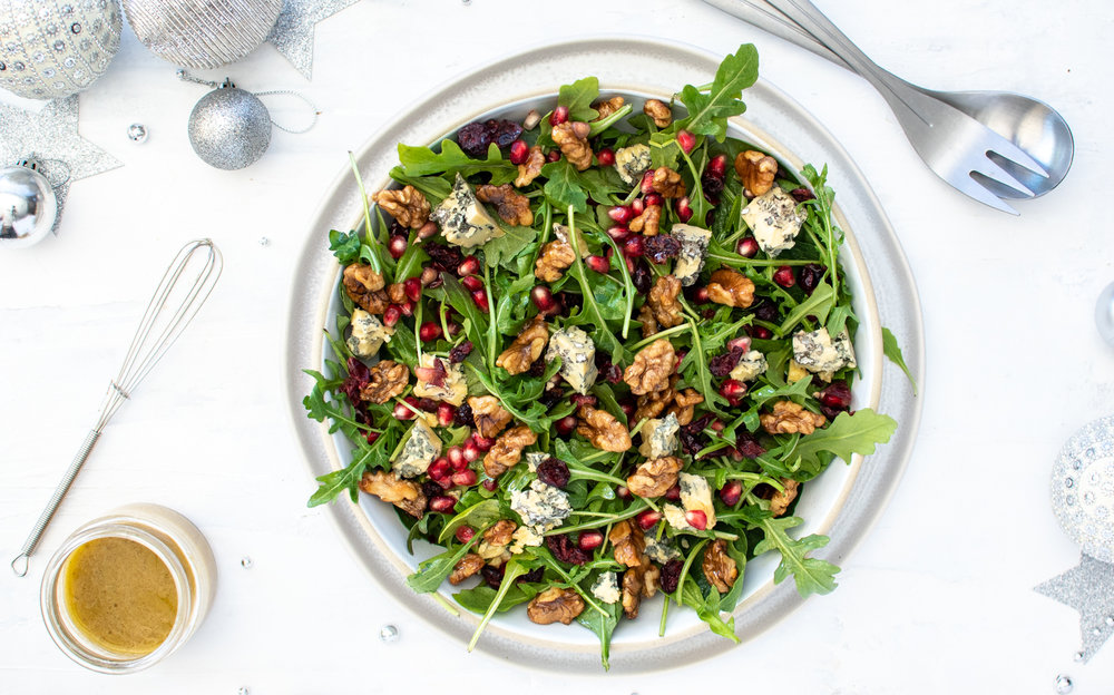 ROCKET, CRANBERRY, BLUE CHEESE + WALNUT SALAD