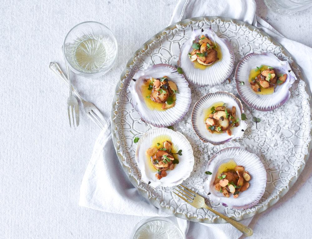 scallops-recipe-almonds-georgia-barnes