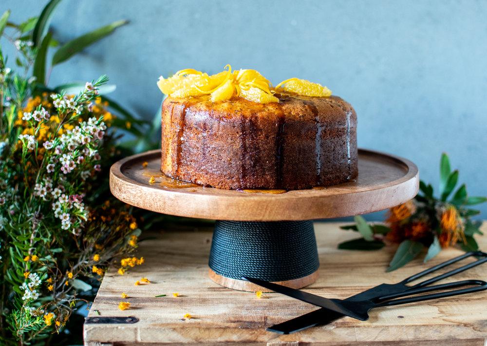 ORANGE + POPPYSEED SYRUP CAKE