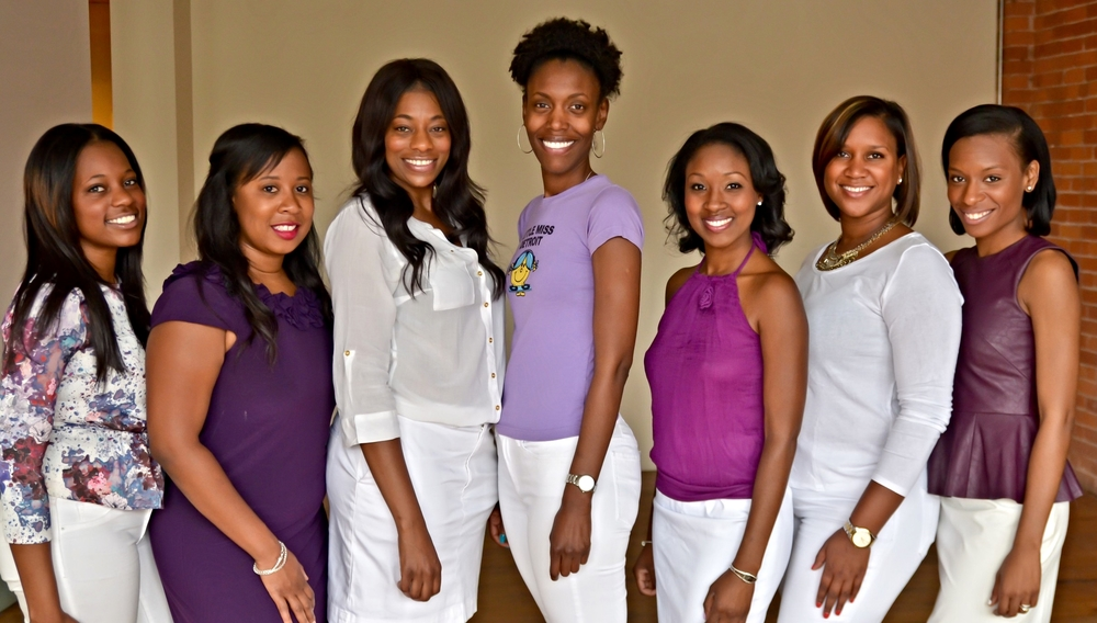 From left to right: Tonie Stovall - Founder, Jackie Palmer, Rana Stovall, Brittany Sanders, Melnevia Whaley, Dana Sellers, Whitney Lewis - Founder, Lindsie Boykin - Secretary (not pictured)