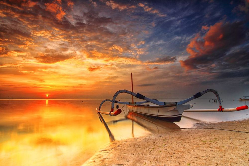 Sunrise at Sanur Beach