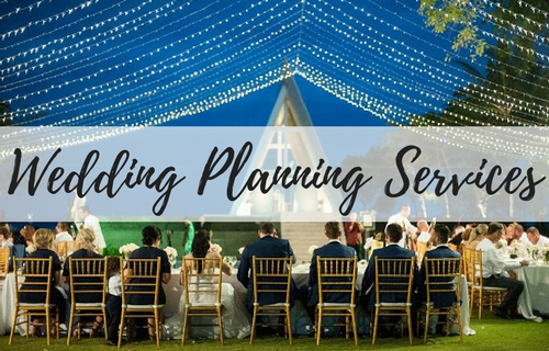 Learn more about our wedding planning services. We don't charge for a simple ceremony only, but we have also on the day coordinator service or full wedding planning services. Enjoy your wedding day, relax, let's get the party started and leave the hassle to us!