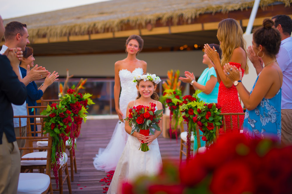 Sheraton Bali - Bene Rooftop - Bride walking down the aisle.jpg