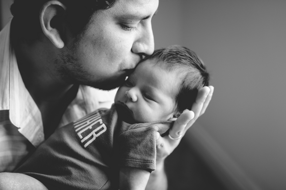 Black and white newborn photography LA