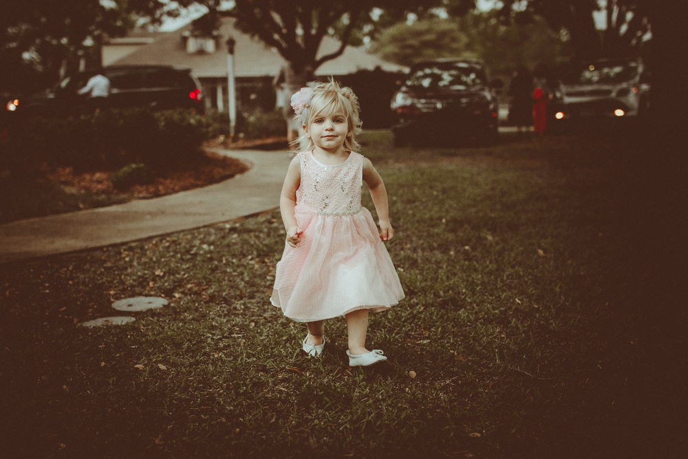 candid flower girl portraits. Jason + Miriam Stockstill. Wedding at TRC Baker, Louisiana. Images by Christi Childs the picture people LA.