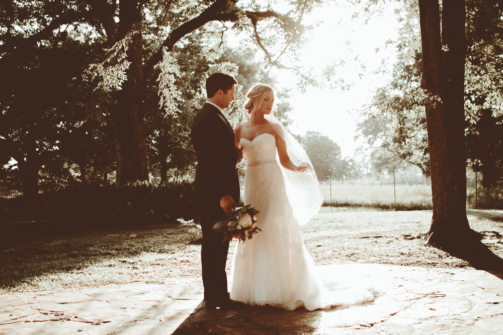 Sunset wedding portraits. Josh + Alora | Classic Denham Springs Wedding. Photos by Christi Childs with The Picture People LA photography Baton Rouge, Louisiana
