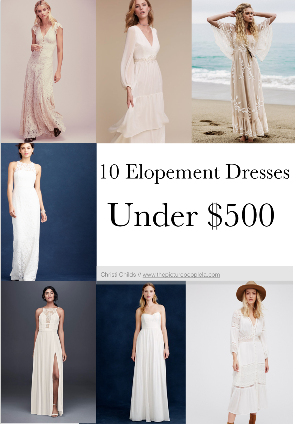 10 gorgeous elopement dresses under $500