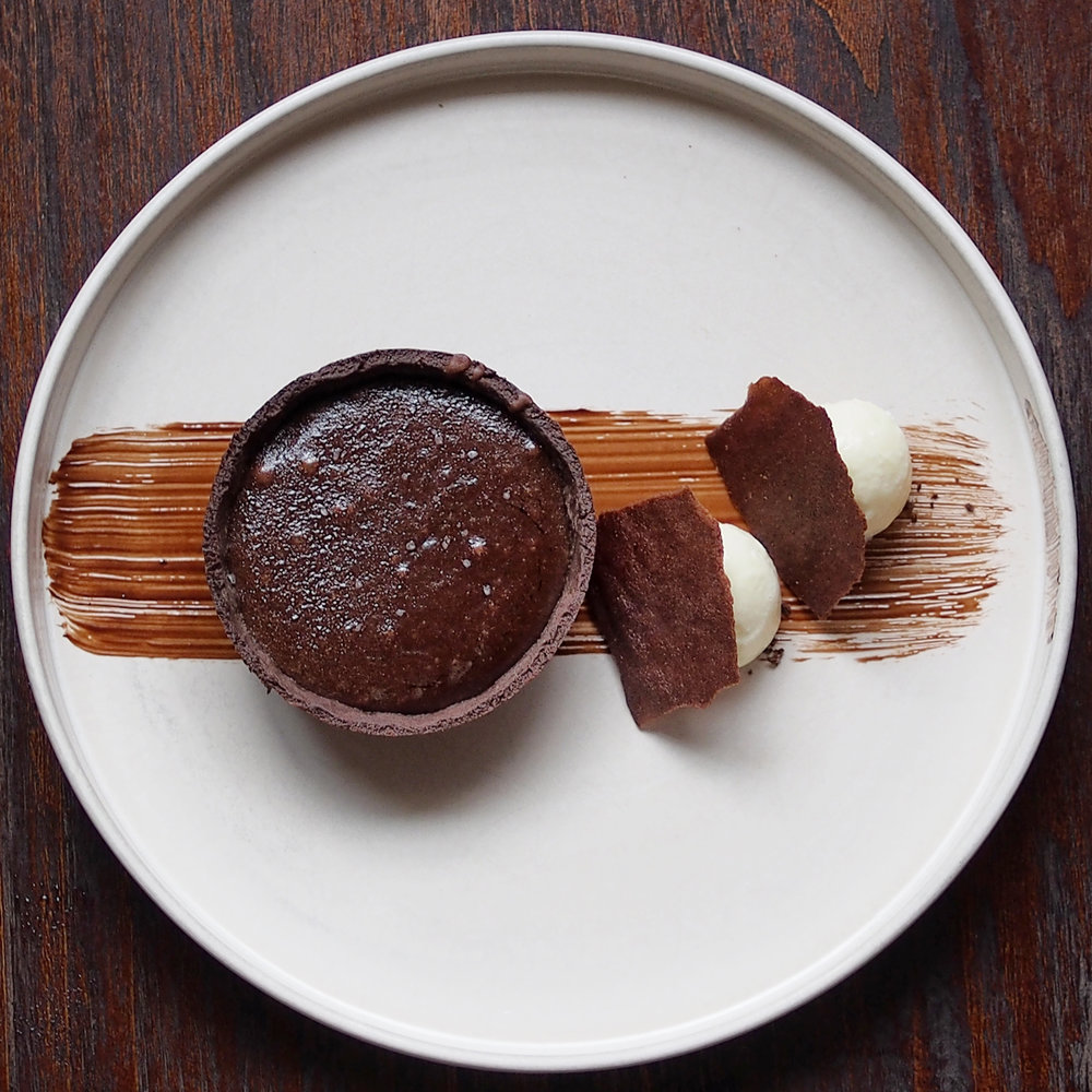 Warm Salted Chocolate Tart