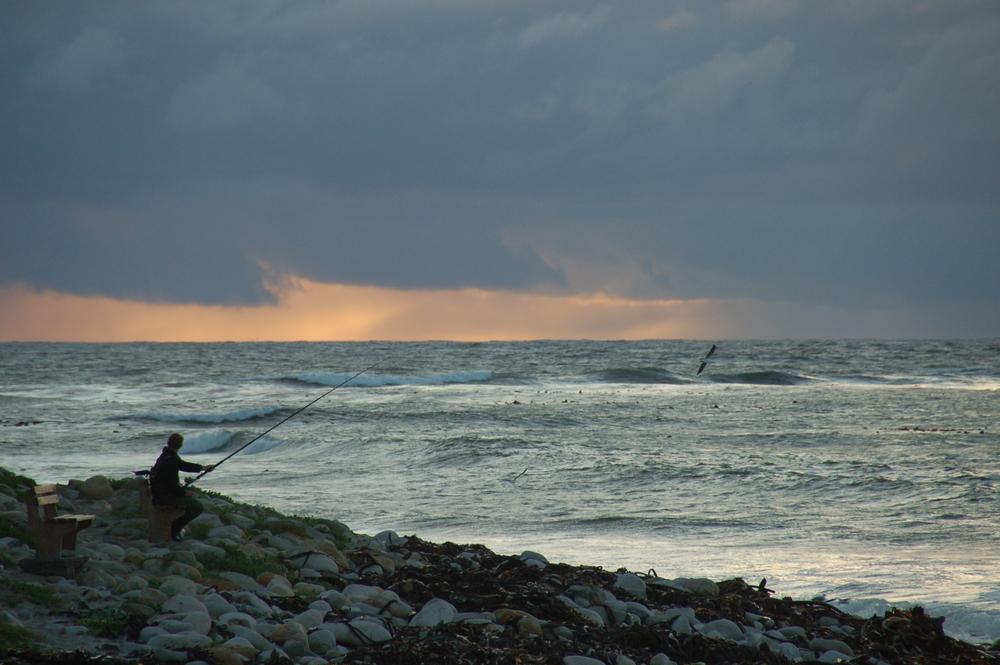 Sunset in False Bay near Cape Town