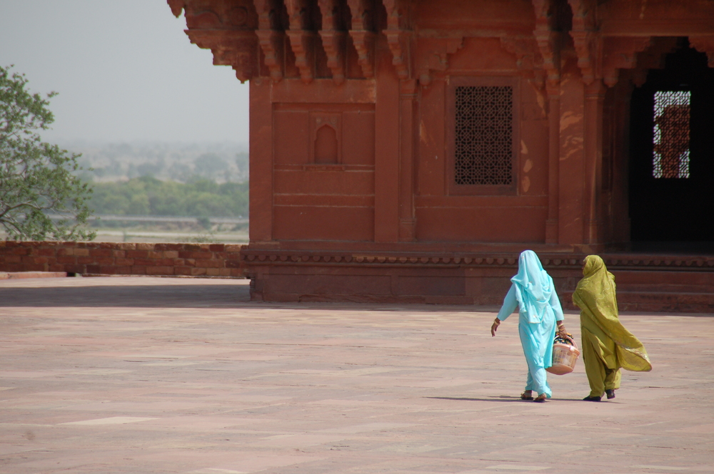 Ladies at Fatehpur Sikri