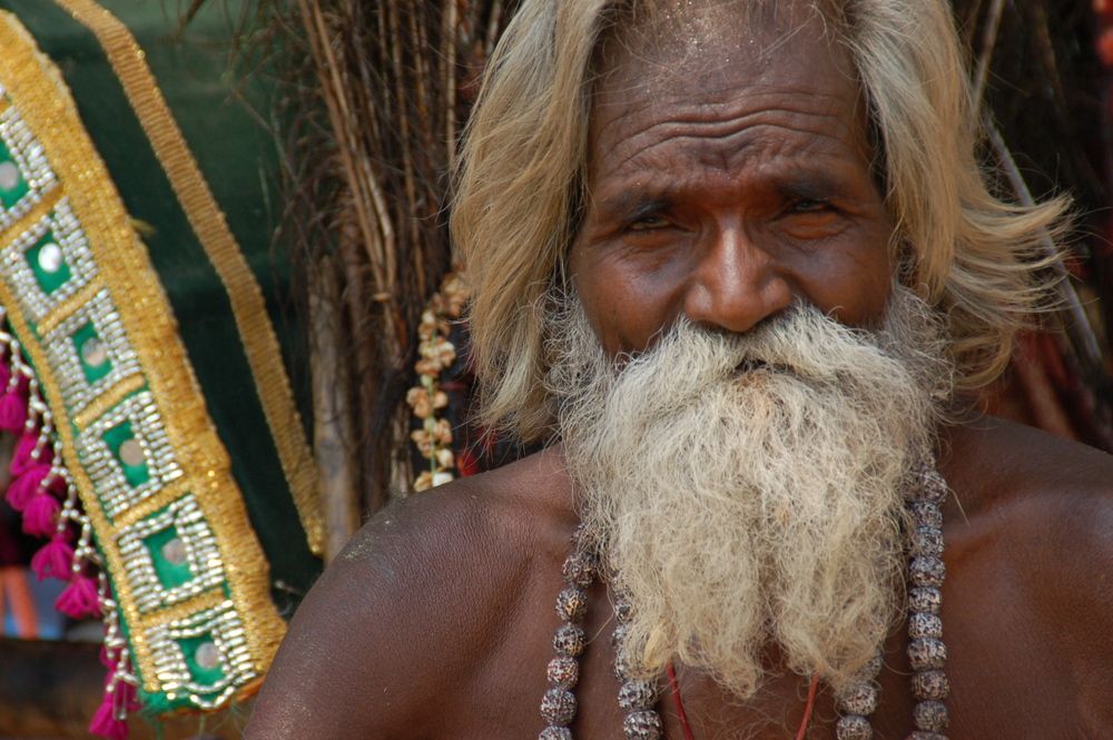 Indian man at the temple
