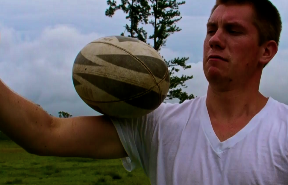 Gare working the rugby ball