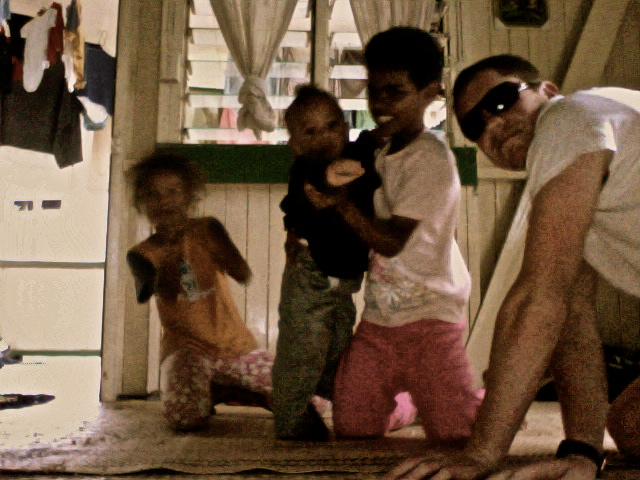 With a family in Suva