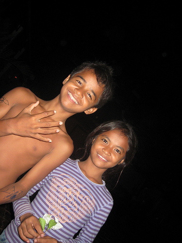 Kids at Palm Tree