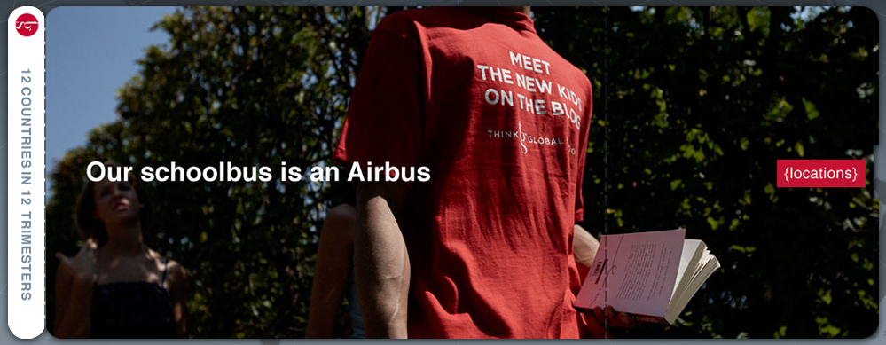 Our school bus is an Airbus. THINK Global School