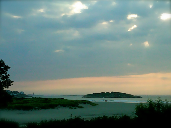"Sunrise off Cape Ann, the filming location and real life setting for ""The Perfect Storm"""
