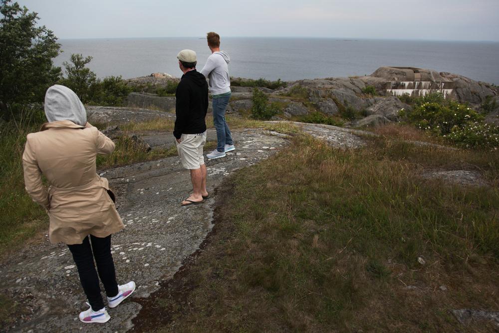 Luisa, Andy, and Kristian on Öja island