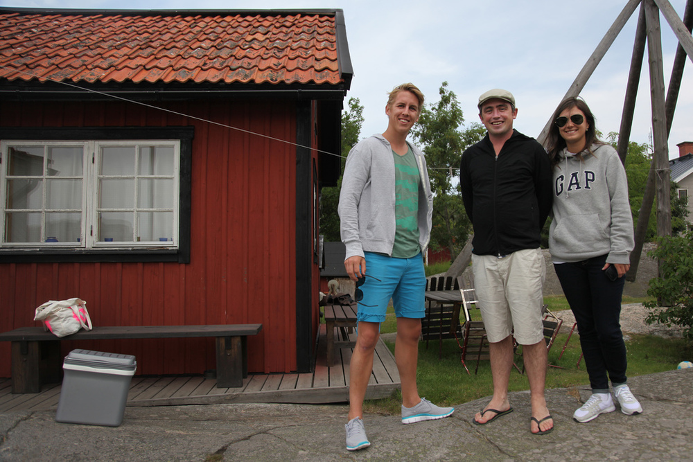 Kristian, Andy, and Luisa at Kari's house on Öja
