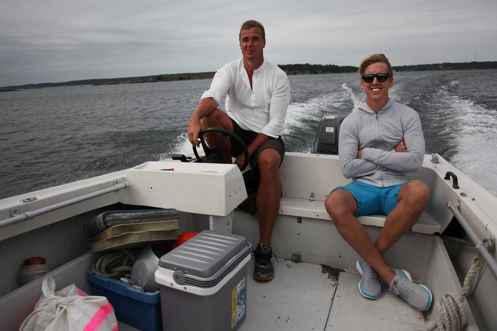 Kari and Kristian heading to Öja, Sweden