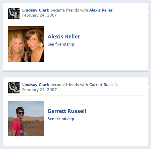 Facebook friends with Alexis and Garrett on Semester at Sea
