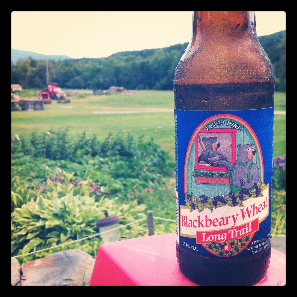 Starting early with a blackbeary wheat beer in Vermont